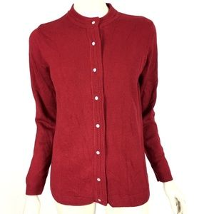 Sara Morgan Womens Small Maroon Cardigan NWOT
